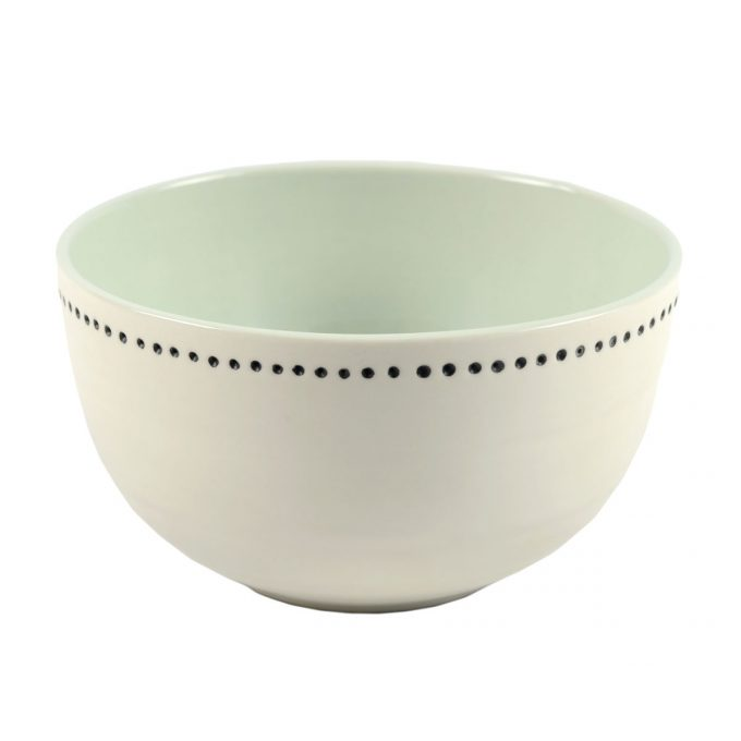 Tallentire House Bowl Horizontal Dots White Duck Egg