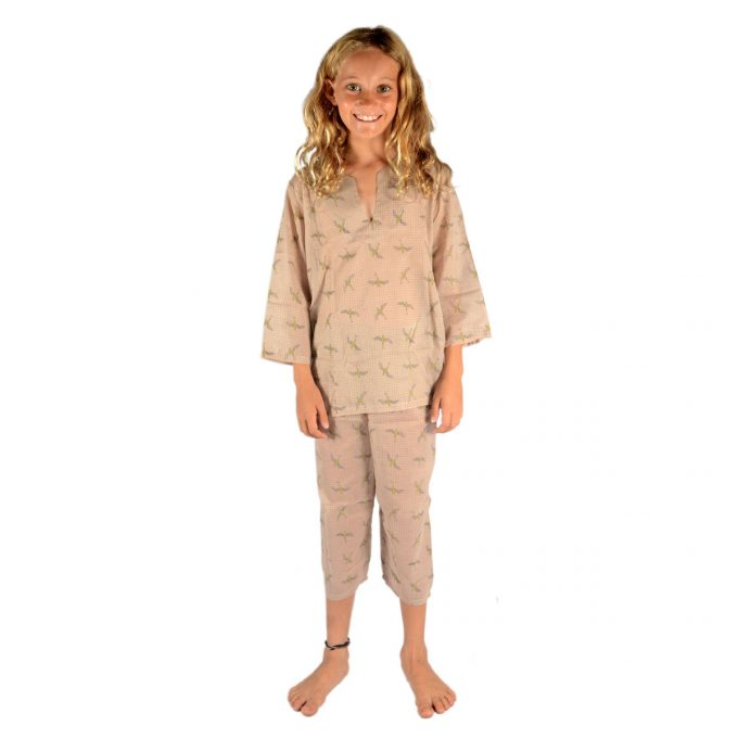 Tallentire House Children Pyjama Bird Oil Yellow