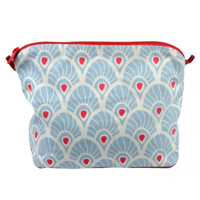 Tallentire House Cosmetics Purse Large Feather Forget Me Knot