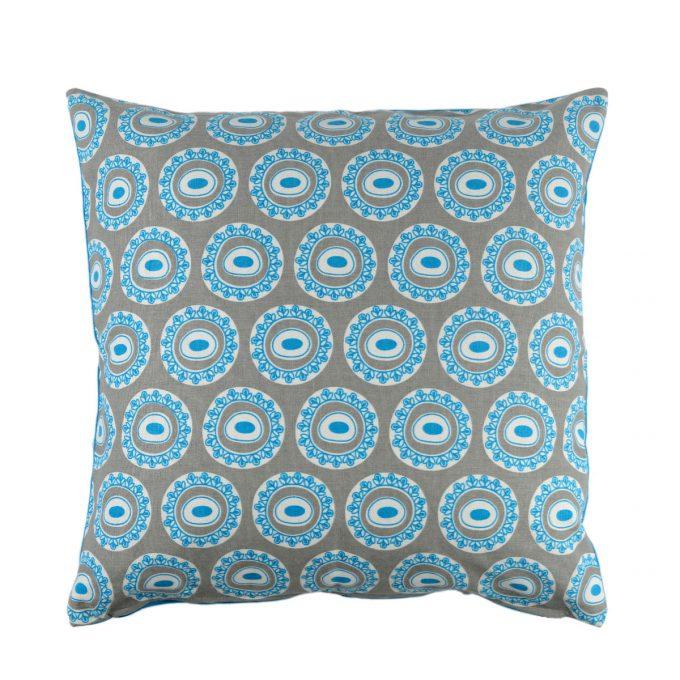 Tallentire House Cushion Square Byzantine Circle Blue