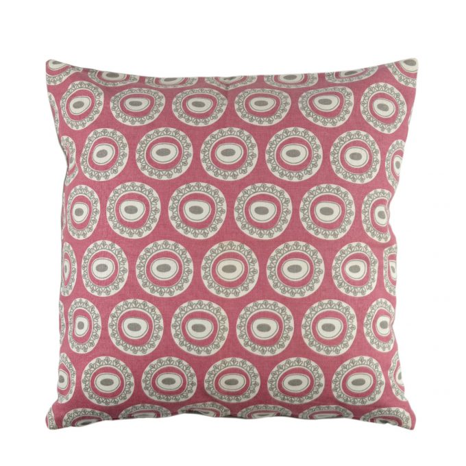Tallentire House Cushion Square Byzantine Circle Nostalgic Pink