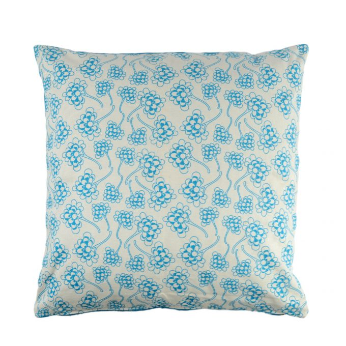 Tallentire House Cushion Square Chinese Flower Blue