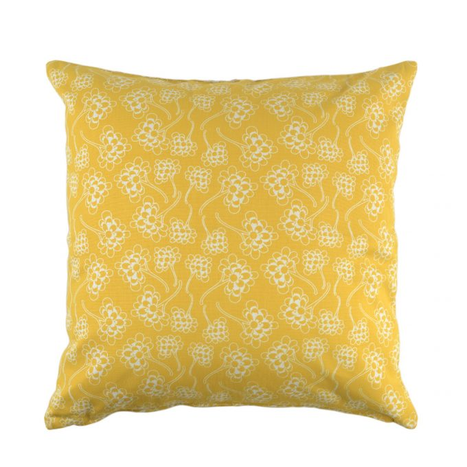 Tallentire House Cushion Square Chinese Flower Celery Inverse