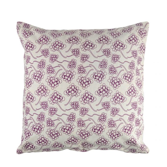 Tallentire House Cushion Square Chinese Flower Grape Wine
