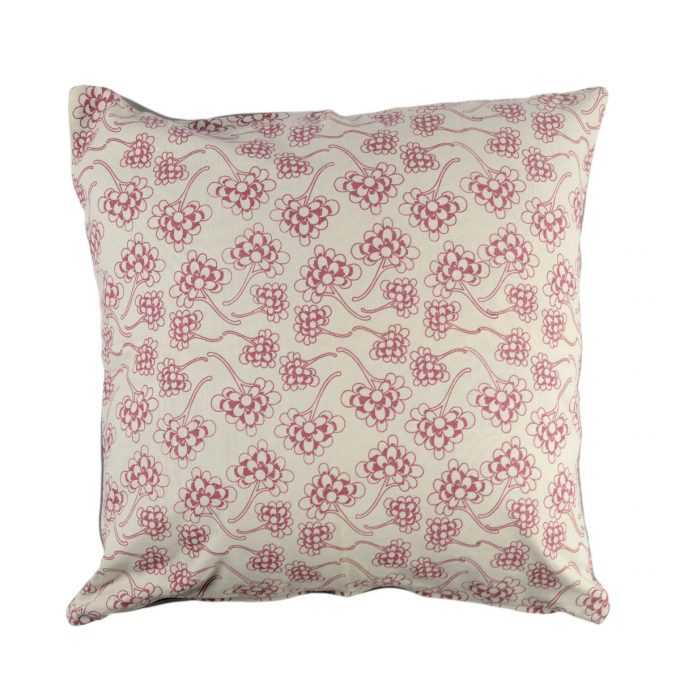 Tallentire House Cushion Square Chinese Flower Nostalgic Pink
