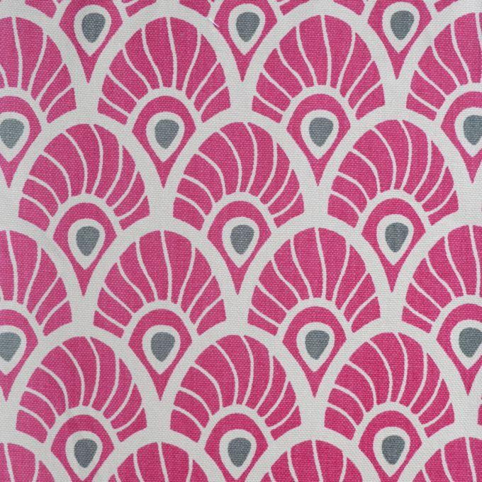Tallentire House Fabrics Q1 Feather Fuchsia Red