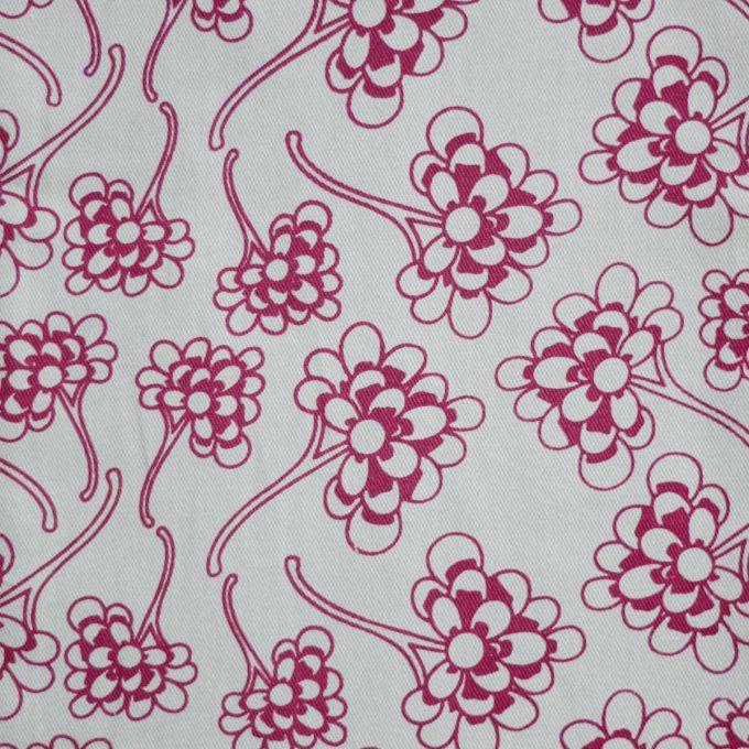 Tallentire House Fabrics Twill Chinese Flower Nostalgic Pink