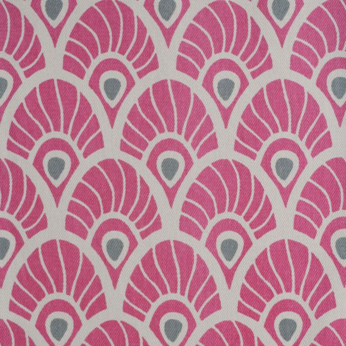 Tallentire House Fabrics Twill Feather Fuchsia Red
