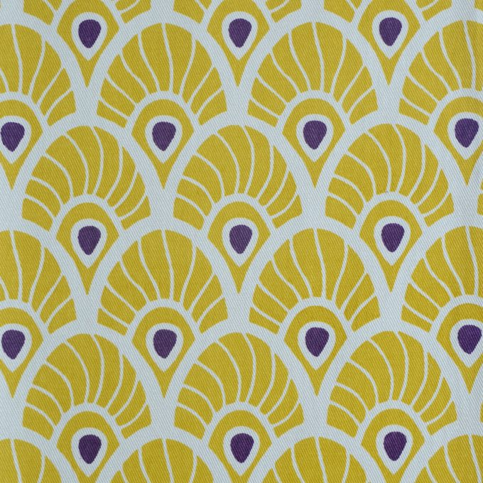 Tallentire House Fabrics Twill Feather Oil Yellow