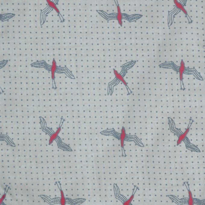 Tallentire House Fabrics Voile Bird Bright Rose