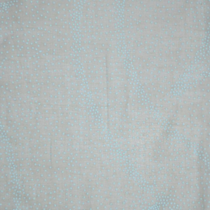 Tallentire House Fabrics Voile Dots Sea Green Chalk Blue