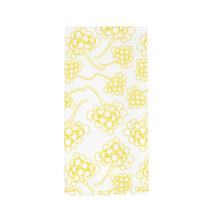 Tallentire House Napkin Chinese Flower Celery On White