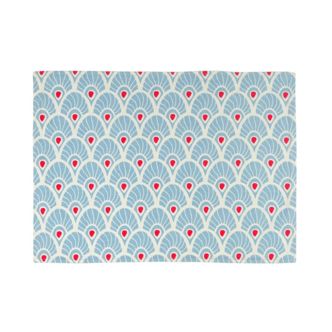 Tallentire House Placemat Feather Forget Me Knot