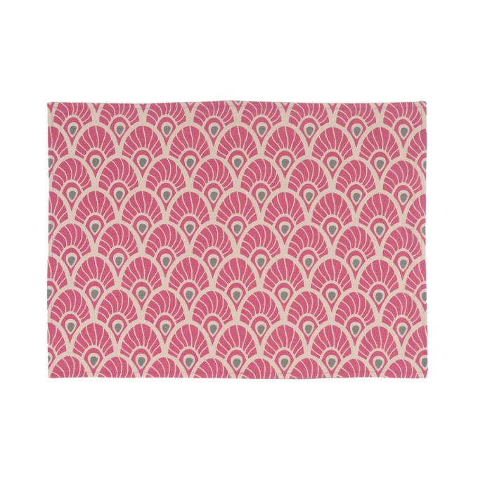 Tallentire House Placemat Feather Fuchsia Red