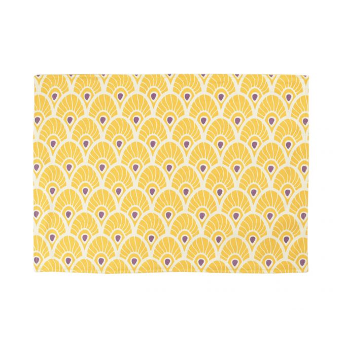 Tallentire House Placemat Feather Oil Yellow