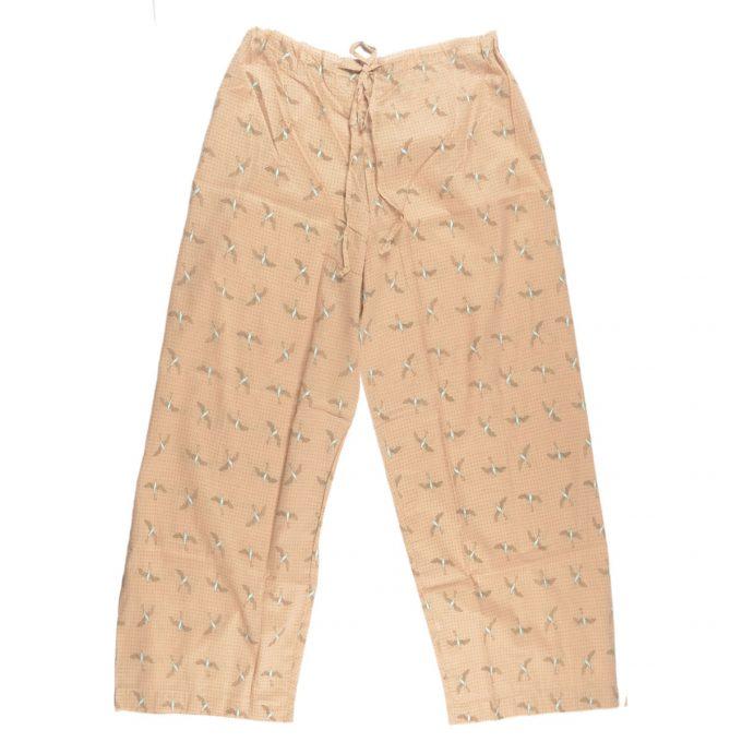 Tallentire House Pyjama Trousers Bird Chalk Blue