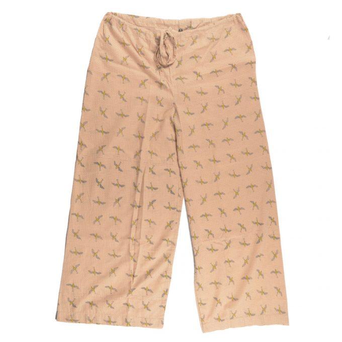 Tallentire House Pyjama Trousers Bird Oil Yellow
