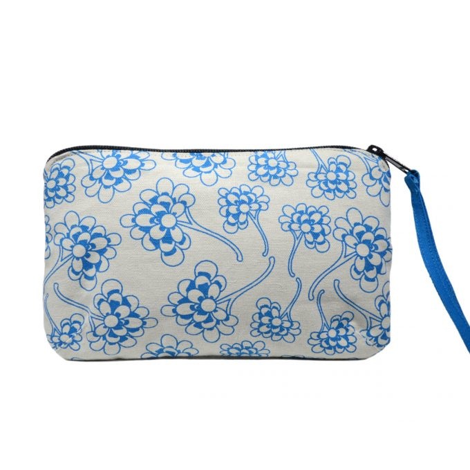 Tallentire House Travel Purse Chinese Flower Blue