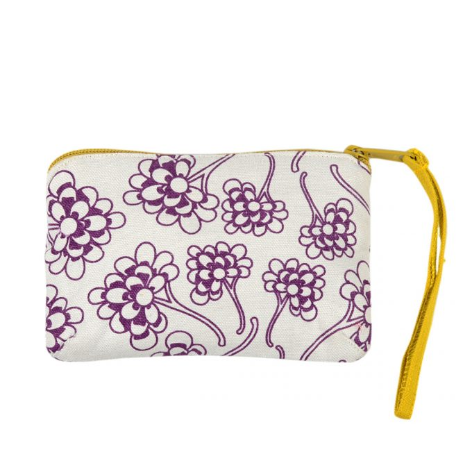 Tallentire House Travel Purse Chinese Flower Grape Wine